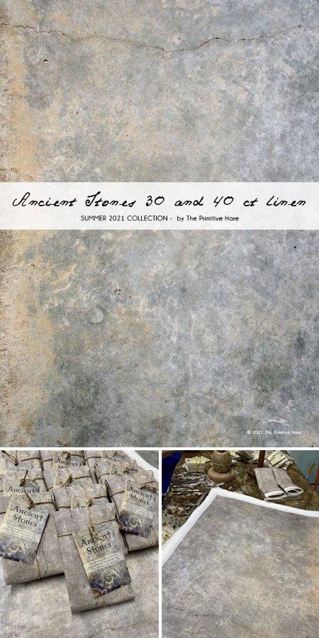 Primitive Hare - Ancient Stones Linen - 30 count