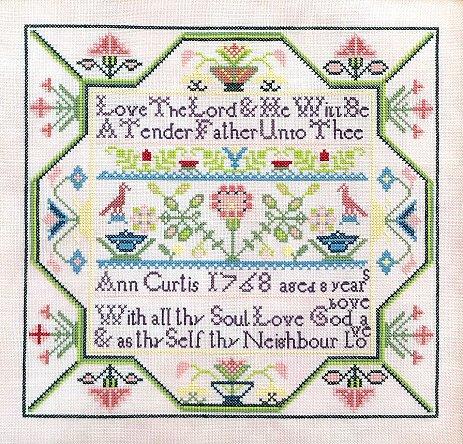 Queenstown Sampler Designs - Ann Curtis 1768