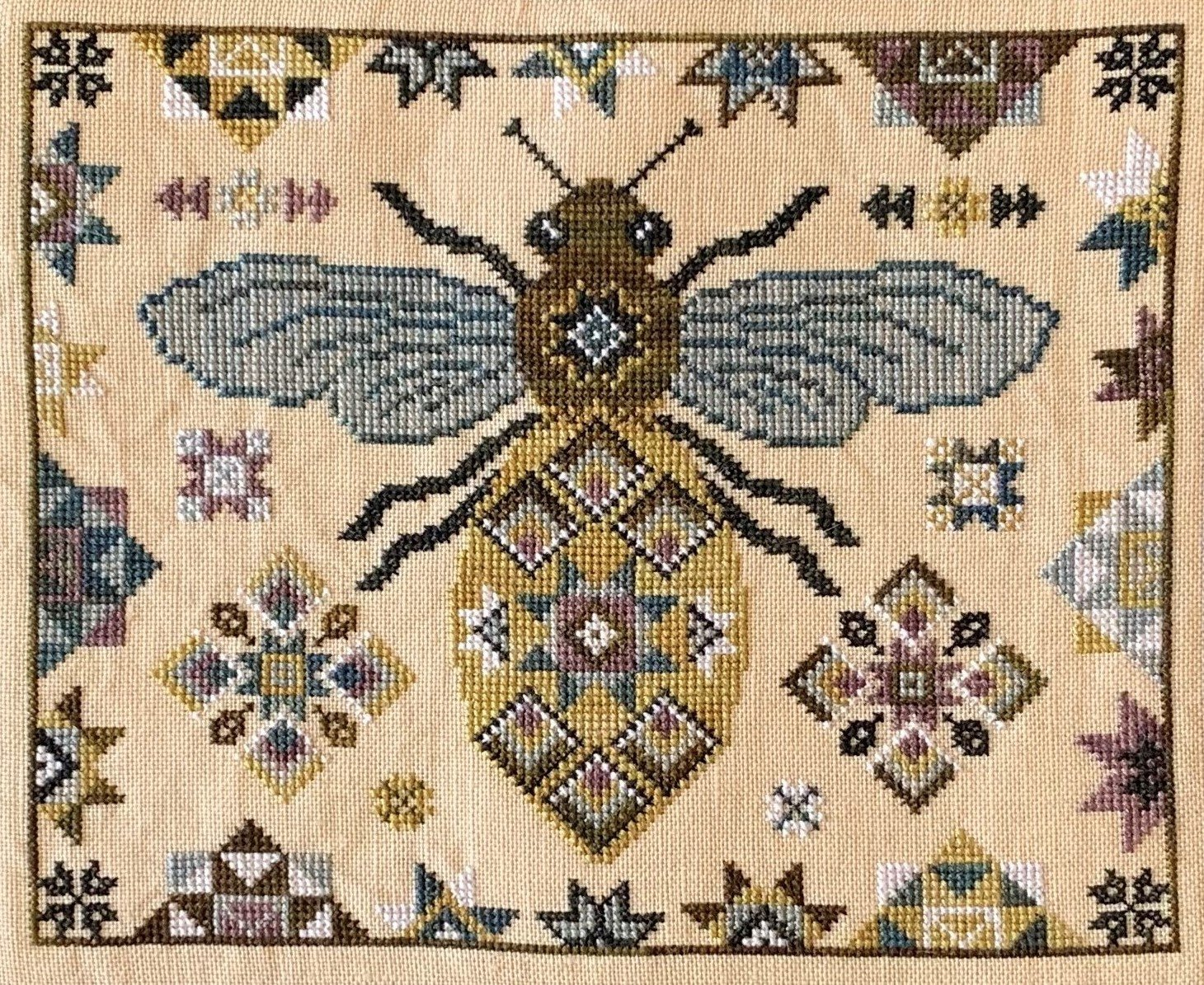 Blue Flower - Quilting Bee