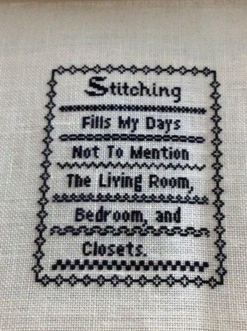 Rosie & Me - Cross Stitch Fills My Days