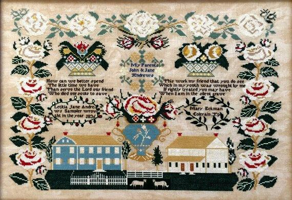Queenstown Sampler Designs - Letitia Jane Andrews 1836