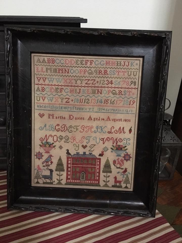 Chessie - Martha Davies 1830 Sampler