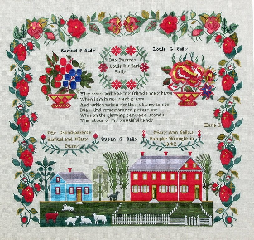 Queenstown Samplers - Mary Ann Baily 1842