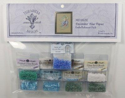 Mirabilia - December Blue Topaz embellishment pack
