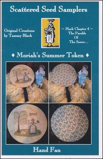 Scattered Seeds Samplers - Moriah's Summer Token Hand Fan