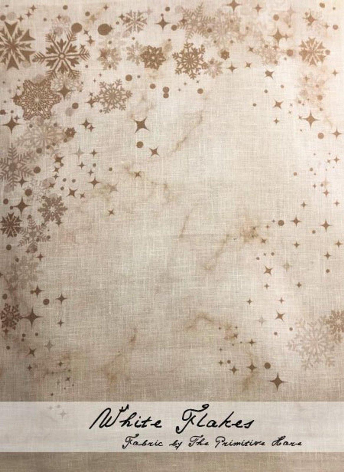 Primitive Hare - White Flakes Linen 30ct color