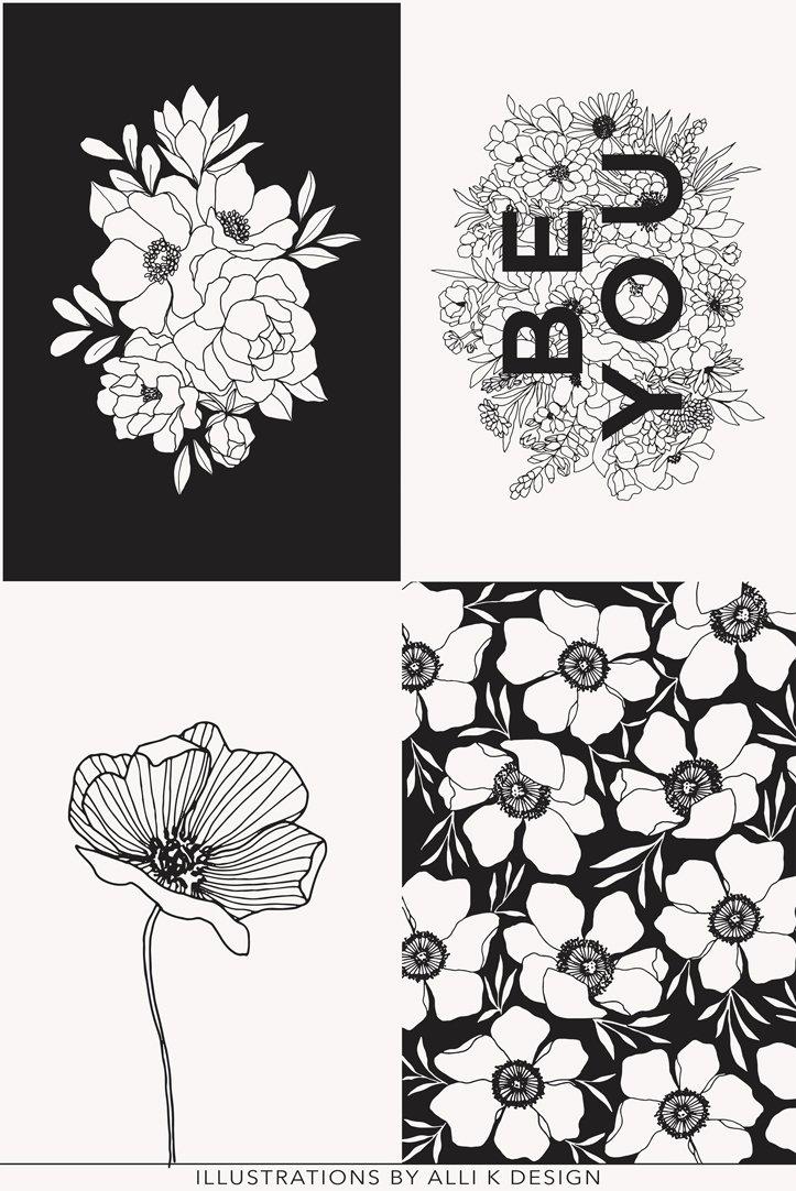 Moda - Illustrations Panel Paper Ink