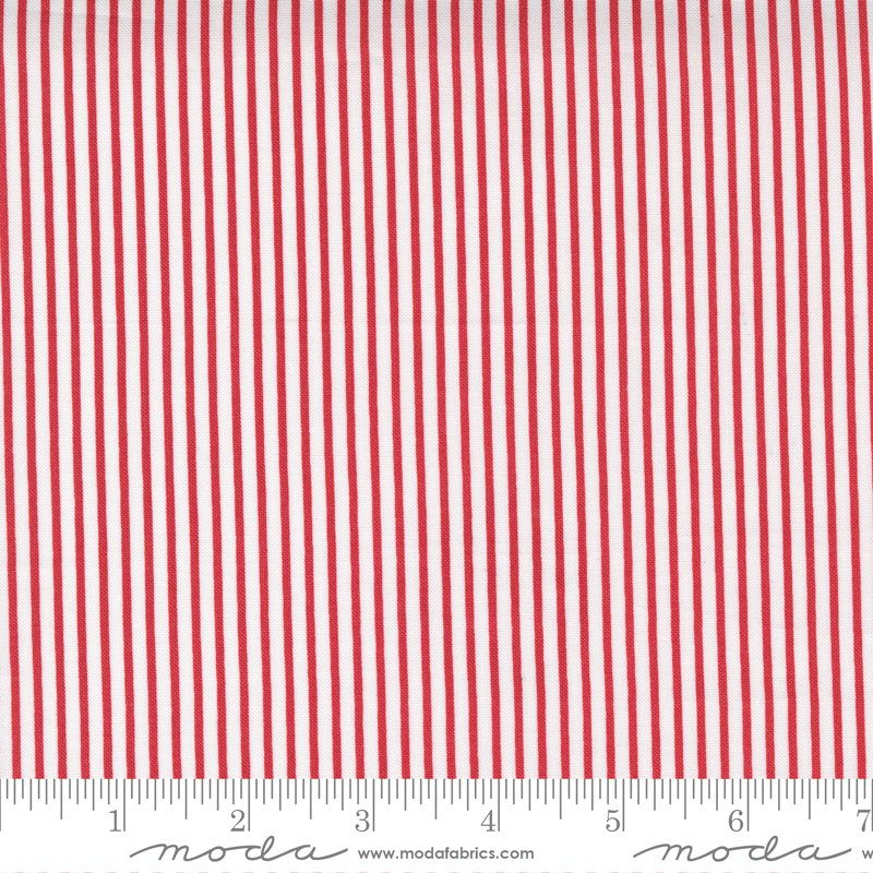 Moda - Yuletide Stripe Cranberry