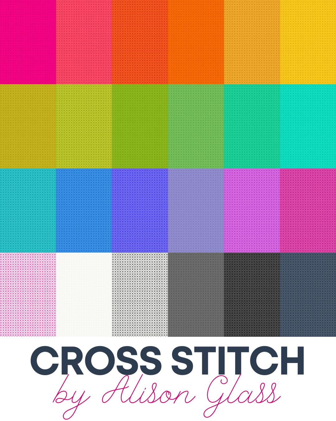 Andover - Alison Glass - Cross Stitch  24 Fat Quarter Bundle
