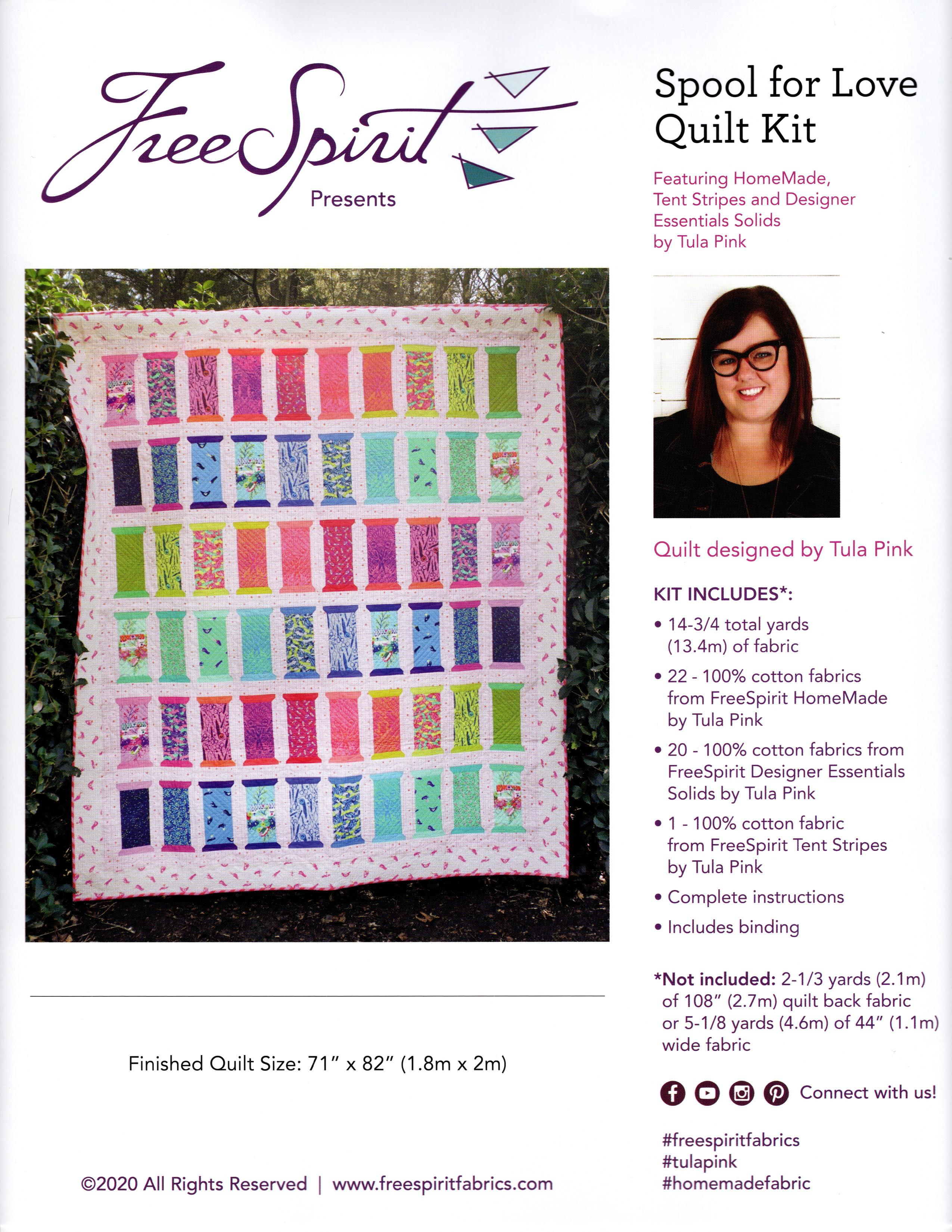 Tula Pink - HomeMade Spool for Love Quilt Kit