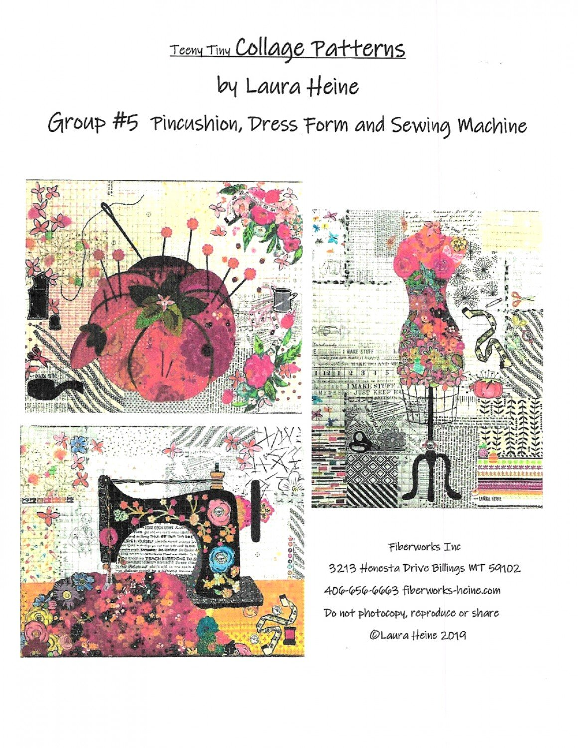 Laura Heine - Teeny Tiny Collage Pattern Grp 5