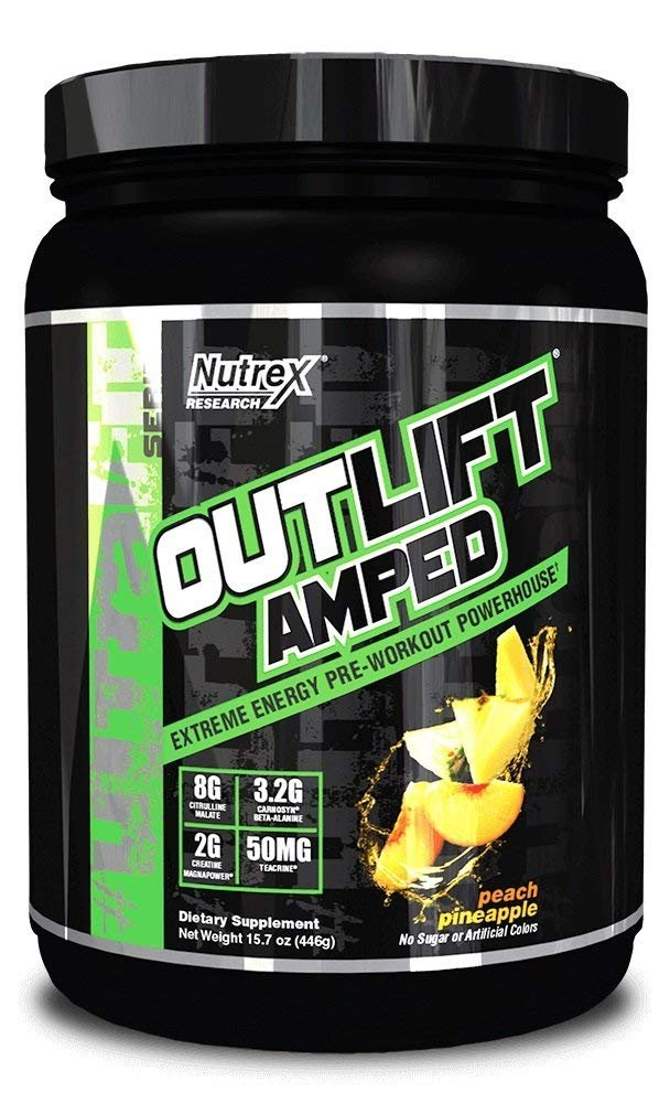 Nutrex - OUTLIFT AMPED - Peach Pineapple - 20 Servings
