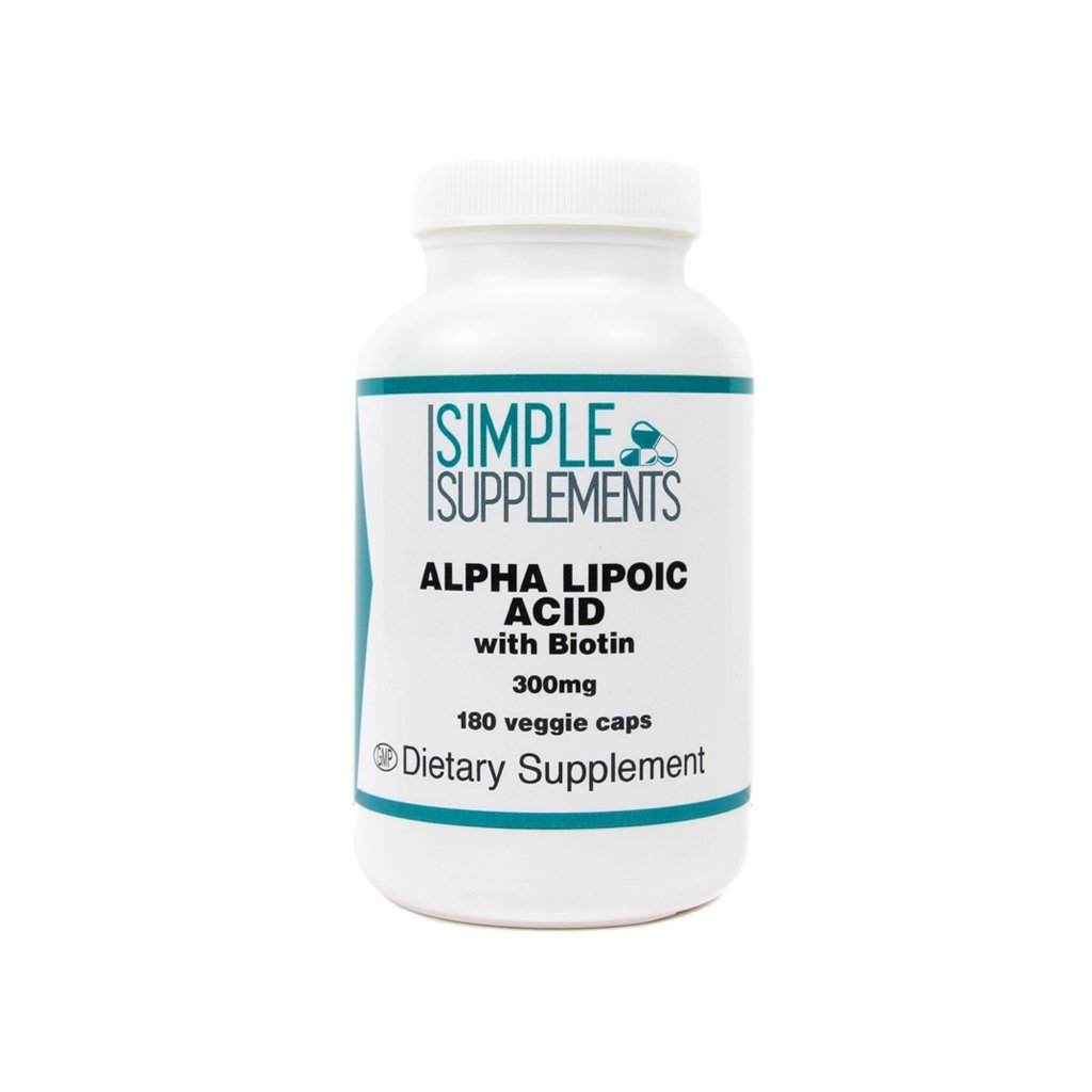Simple Supplement - Alpha Lipoic Acid - 300 mg - 180 Veggie Capsules