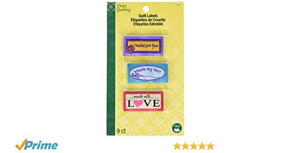 SewIn Embroidered Quilt Labels