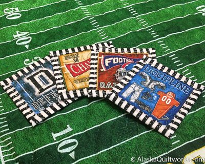Football Table Topper and Coasters