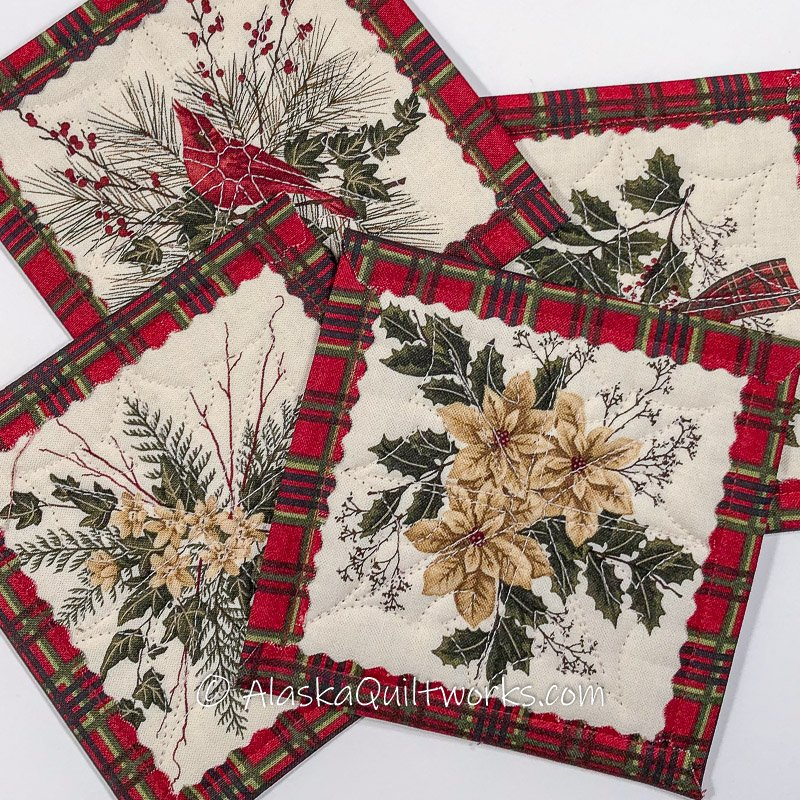 _Coasters - Plaid Christmas Florals Varieties
