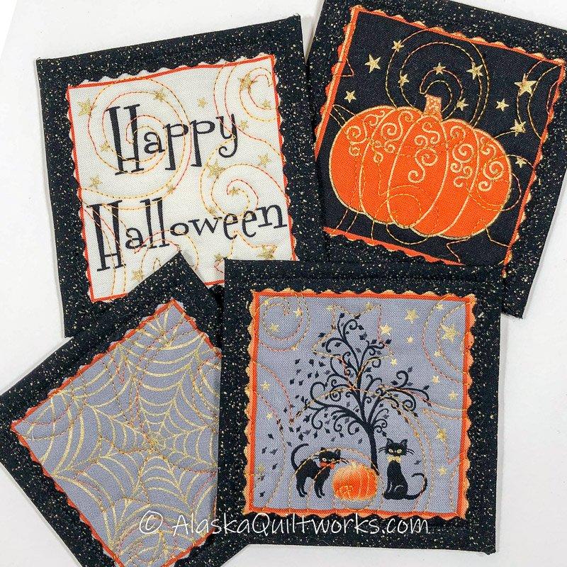 _Coasters - Halloween Varieties - Black