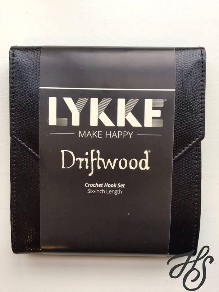 Black Case Driftwood Crochet Hook Set