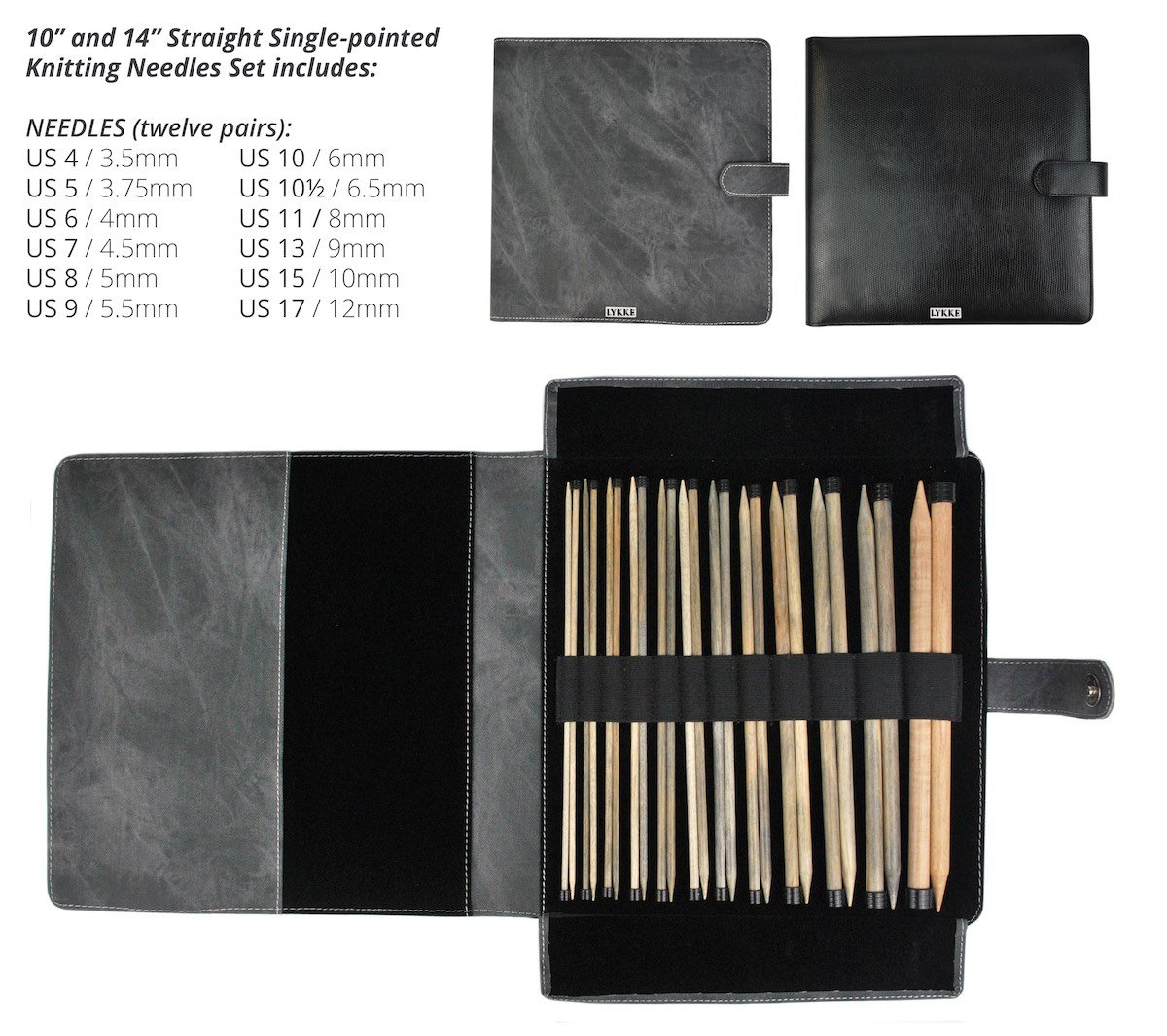 10 Straight-Pointed Needle Set - Denim Case