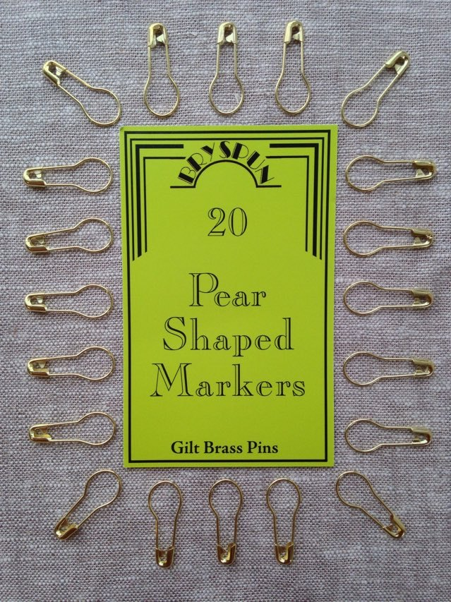 Bryson Pear shaped markers Gilt Brass