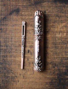 Vintage Copper Needle Case