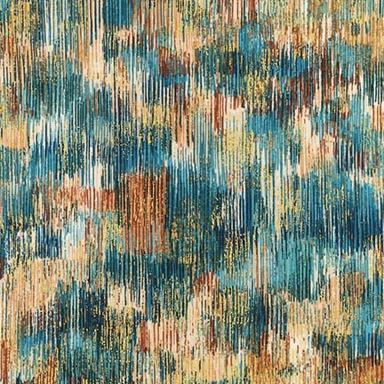 FUSIONS BRUSHWORK SRKM-18059-403 TEAL BLUE