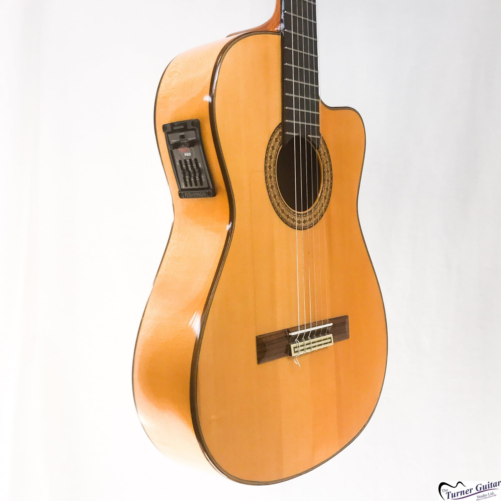 Aria AC70 Concert Series Electric Cutaway, Classical Guitar, Spanish-made (Used)