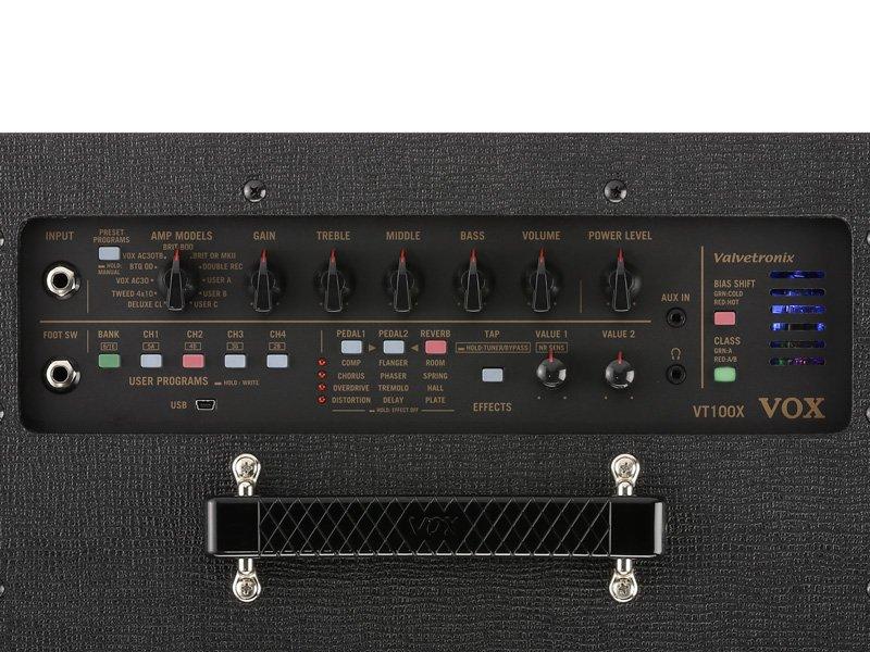 Vox VT20X hybrid tube modeling amplifier - USB control interface