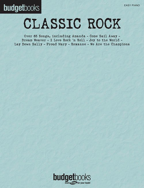 Hal Leonard Budget Books - Nearly 70 Classic Rock Songs - Easy Piano