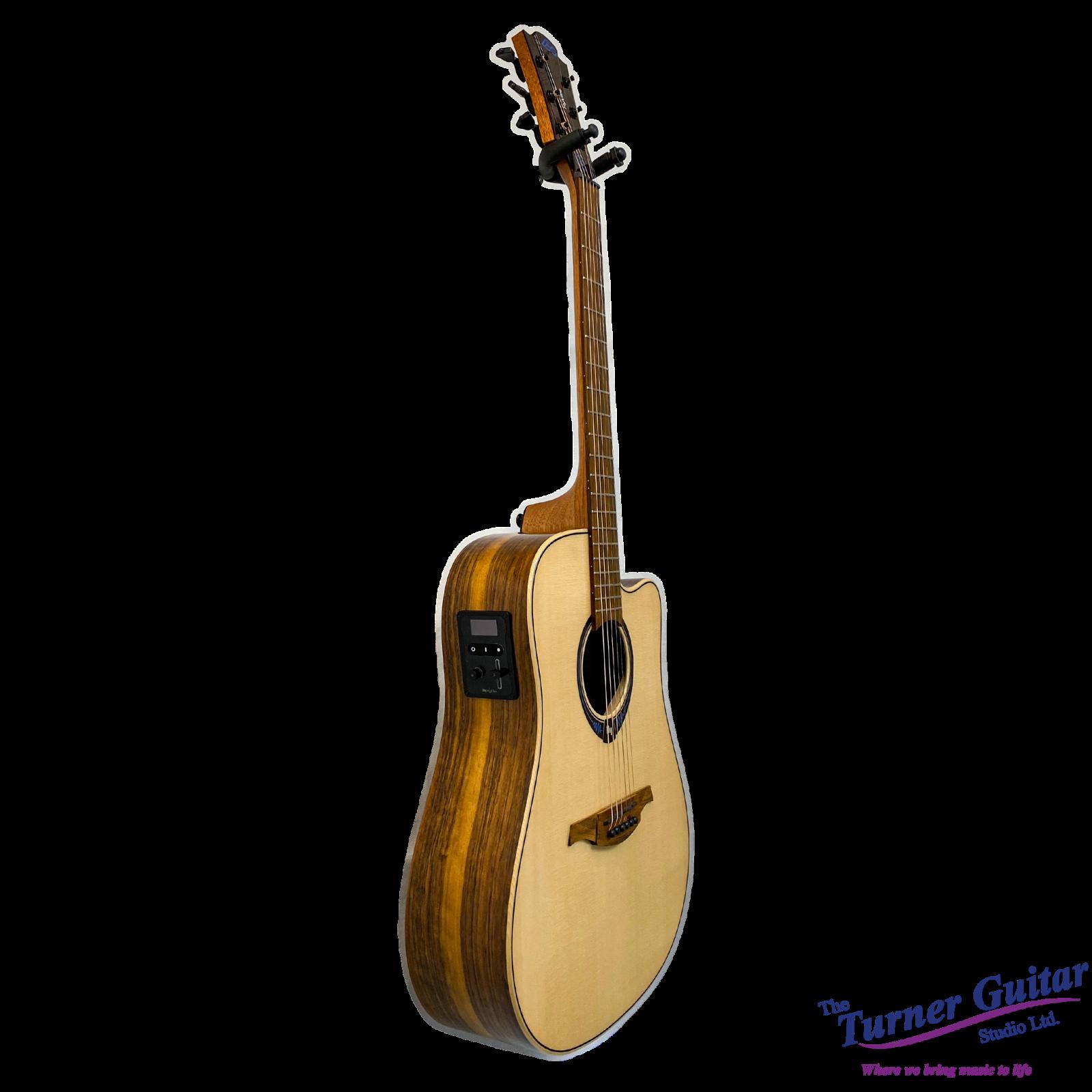 Lag Guitars Tramontane Hyvibe 20 Glossy Engelmann Spruce Top Smart Guitar Bluetooth Effects 3700166366374