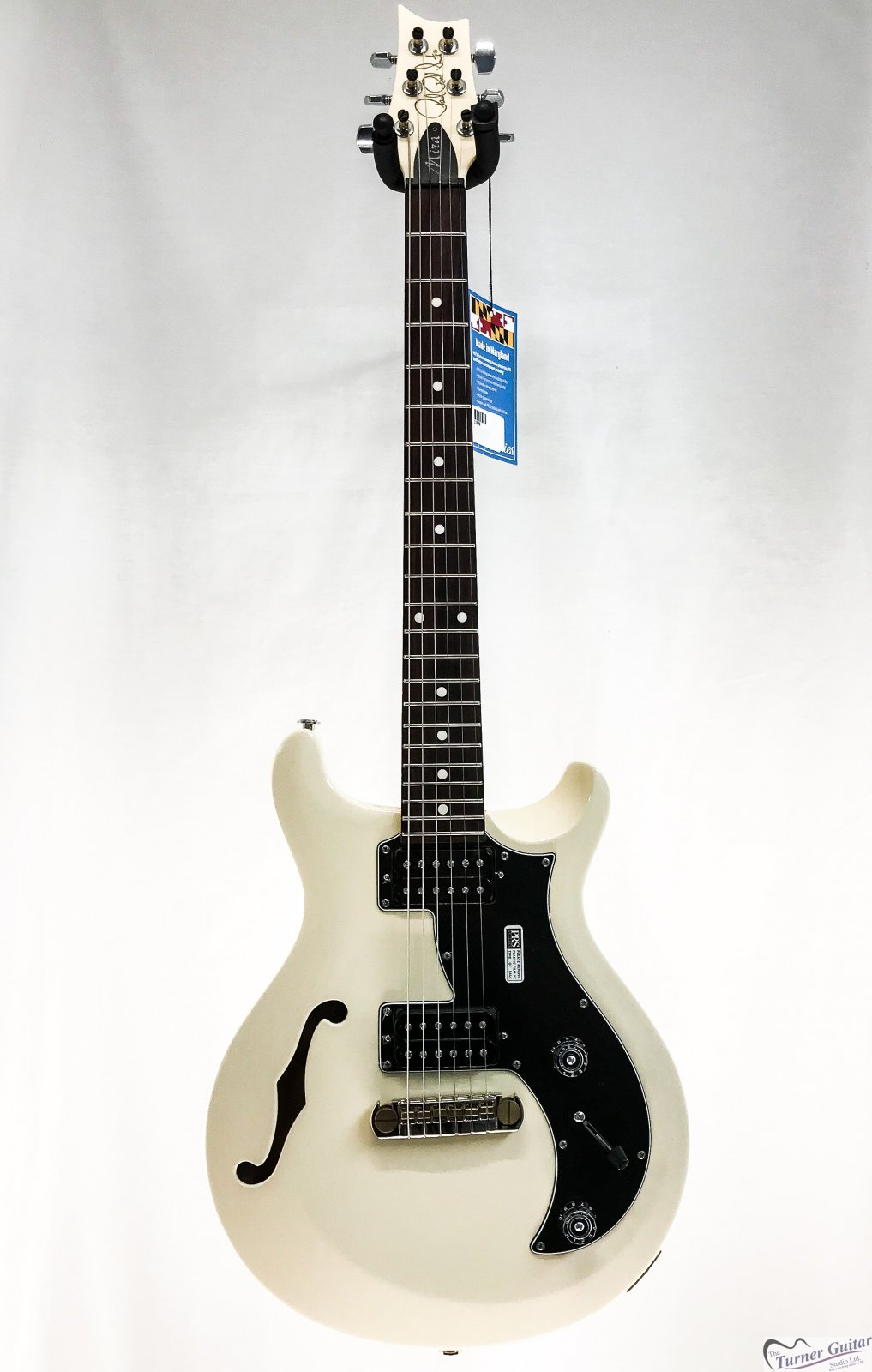 prs paul reed smith mira s2 semi hollow electric antique white 11976. Black Bedroom Furniture Sets. Home Design Ideas