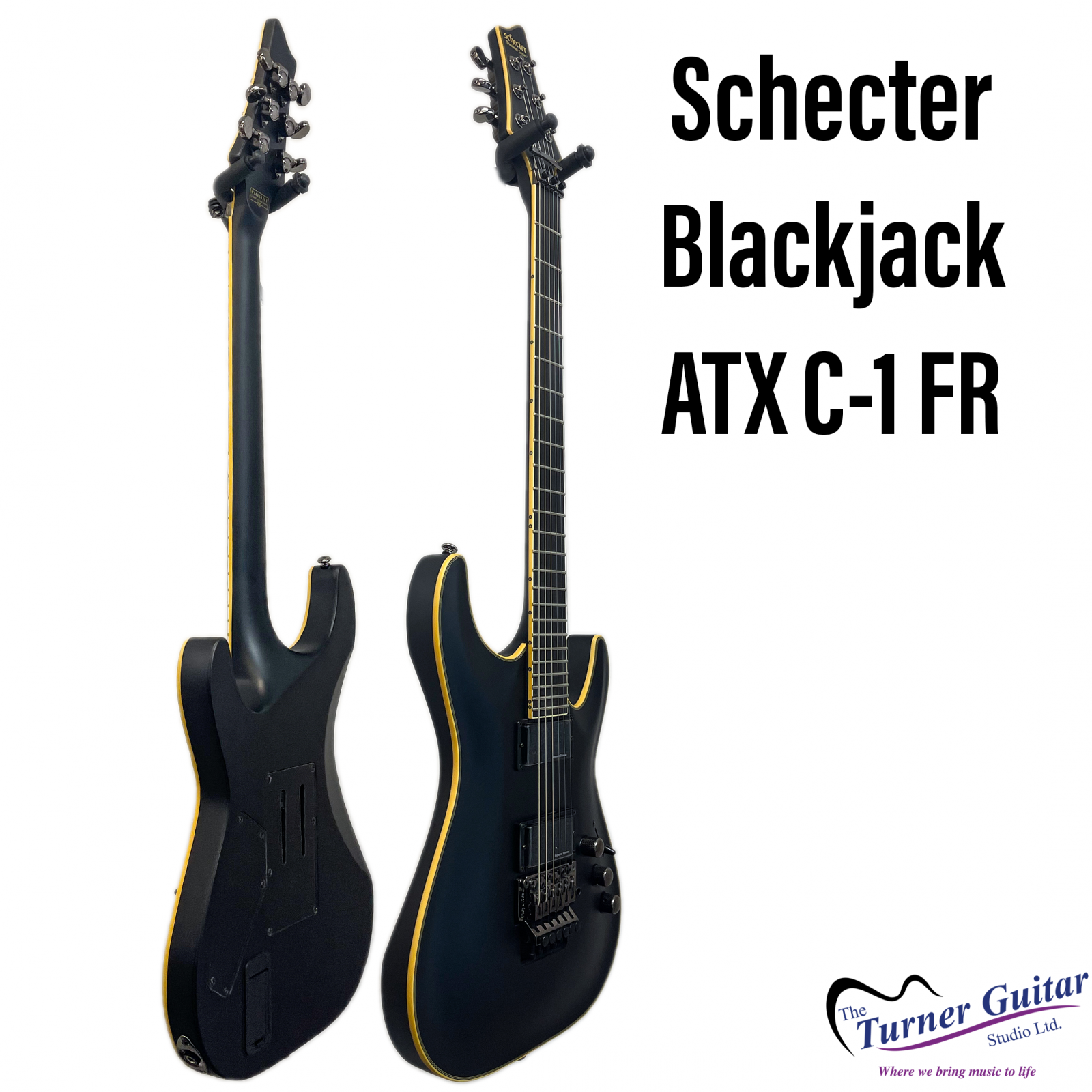 Schecter Blackjack ATX C-1 FR Electric - Aged Satin Black Finish - Discontinued Clearance