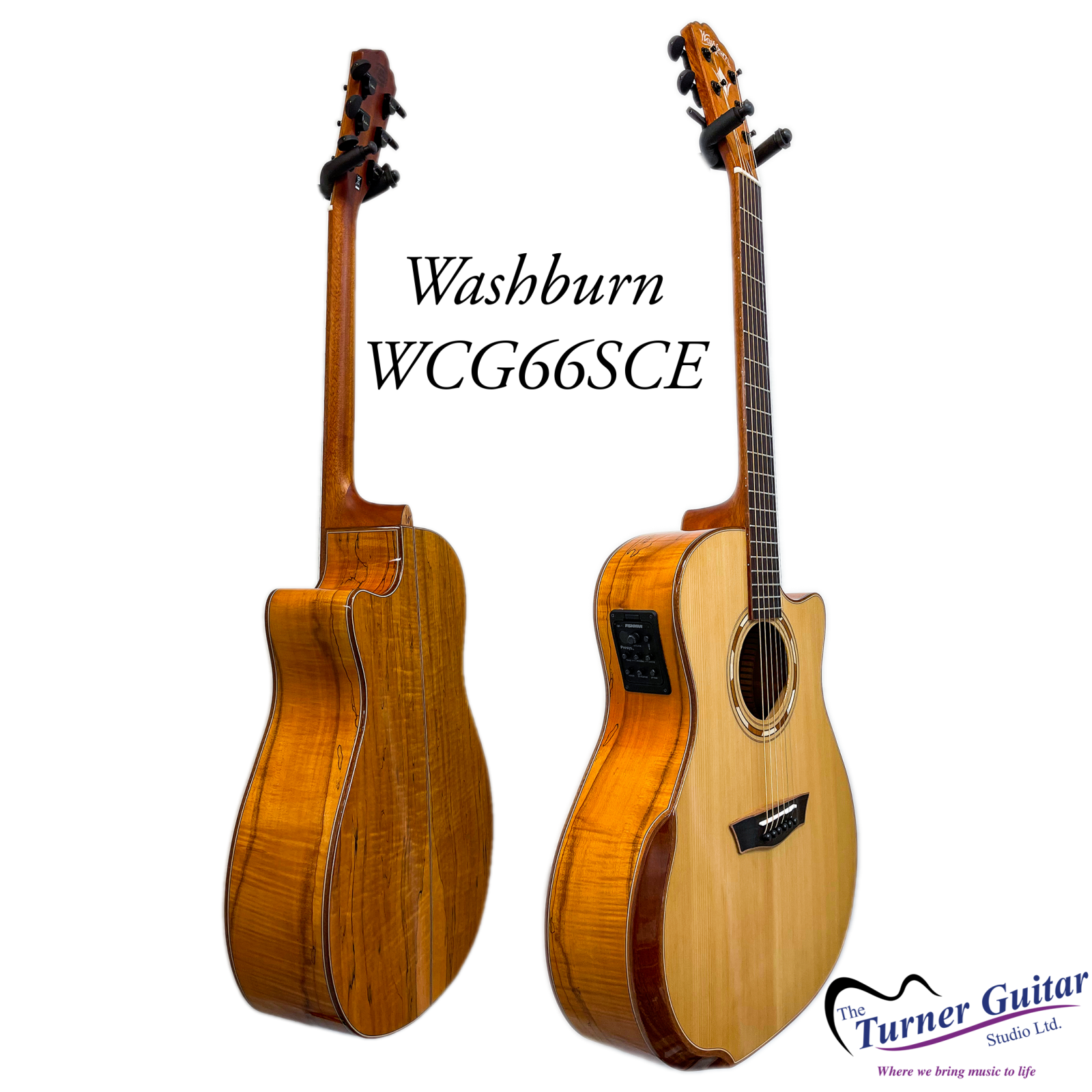 Washburn Comfort Deluxe Acoustic/electric - Cedar & Spalted Maple - Fishman Presys+