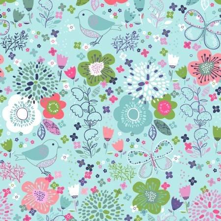 Hello Spring BOM - Turquoise Garden