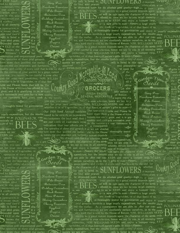 Country Road Market - Vintage Words - Green