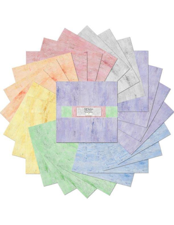 10in Squares Soft Spectrum  - 24 pieces