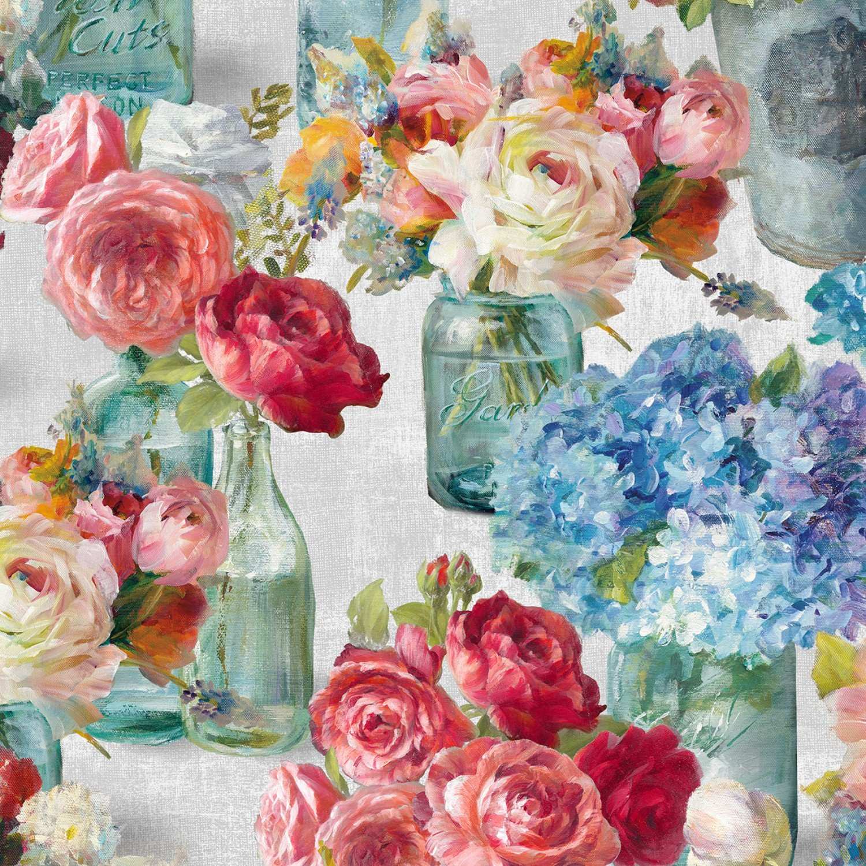 Flower Market - Grey Flowers in Jars