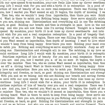 Remix - Sun Print Text A-7246-K