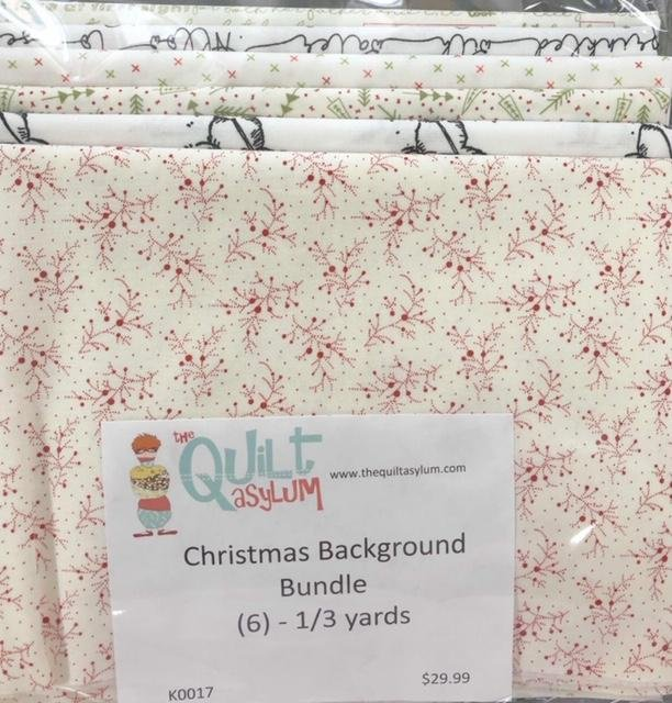 Christmas Bullseye Backgrounds - (6) 1/3 yards