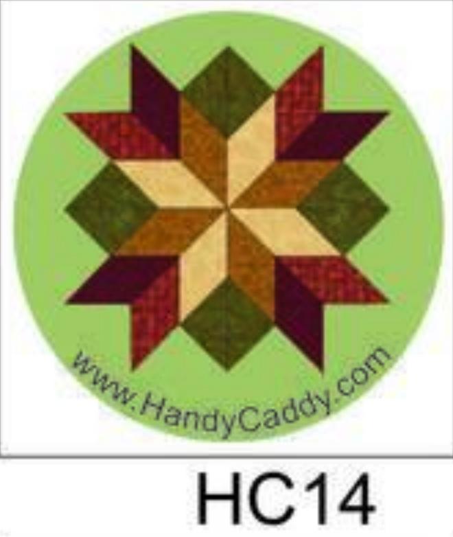 Handy Pop with Car Mount Clip - Fall Green Quilt Block