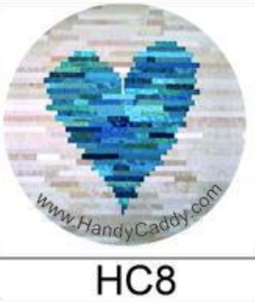Handy Pop with Car Mount Clip - Blue Heart