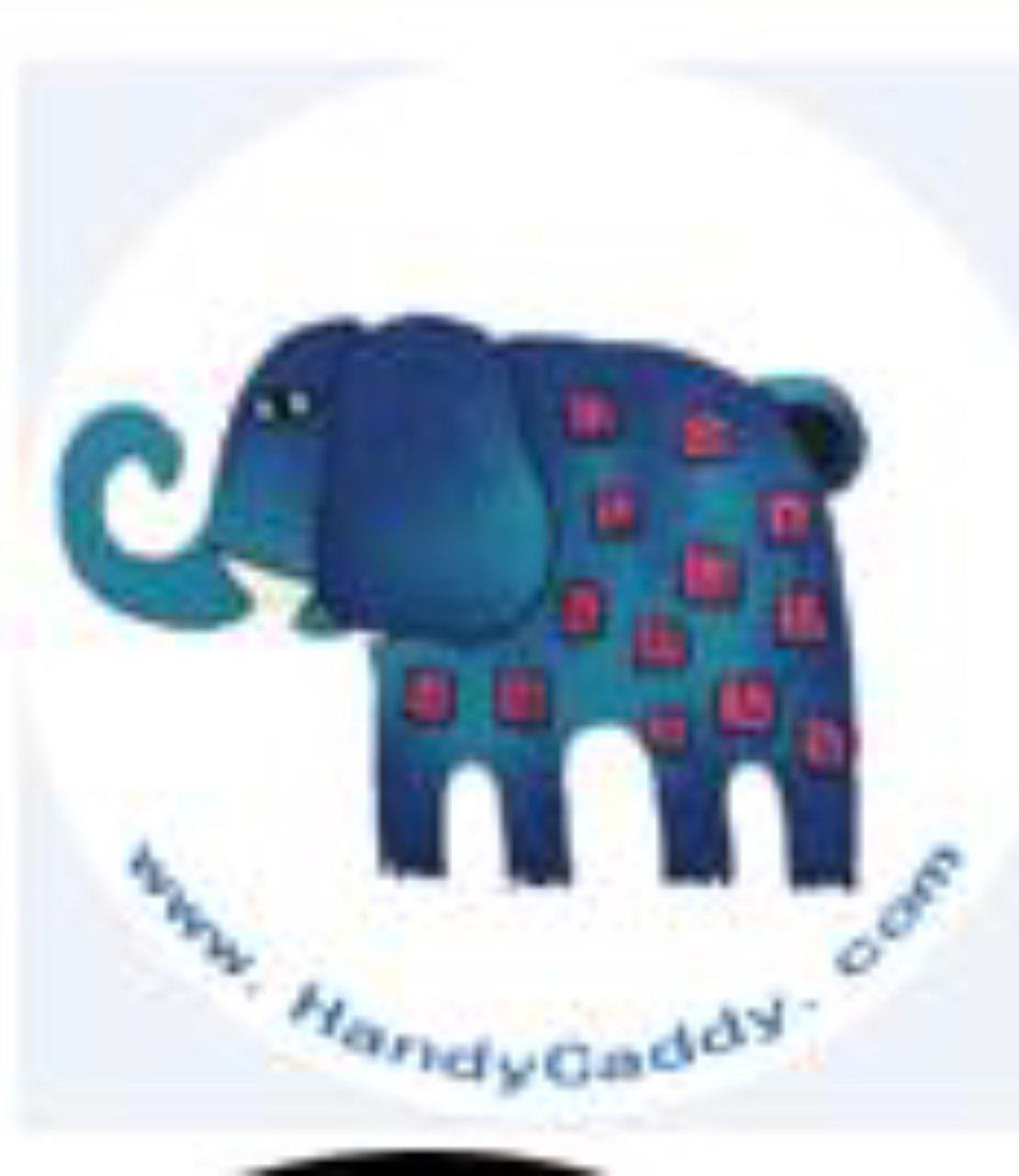 Handy Pop with Car Mount Clip - Blue Elephant