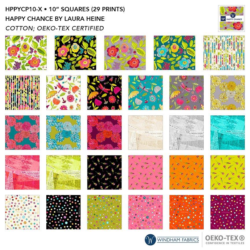 Happy Chance - 10 x 10 squares