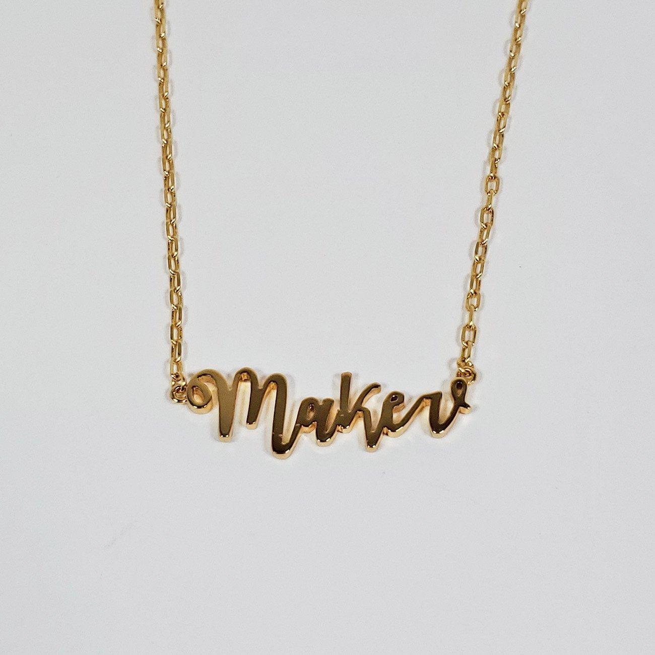 Maker - Necklace - Gold