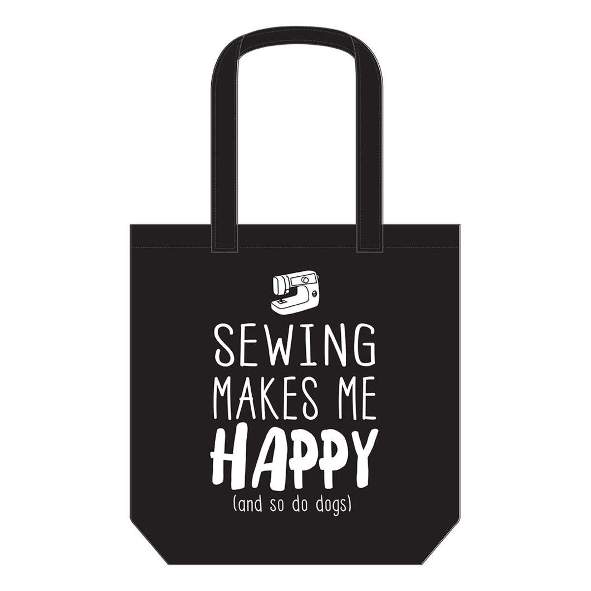 Canvas Tote Bag - Sewing Makes Me Happy
