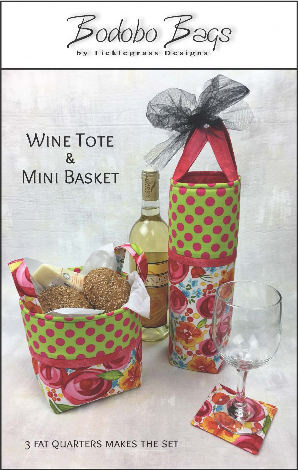 Bodobo Bags/Wine Tote & Mini Basket