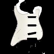 Pickguard Stratocaster S/S/S (Left Hand) 11-Hole Mount Parchment 3-Ply
