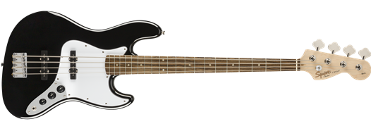 Squier Affinity Series Jazz Bass - Black w/ Laurel Fingerboard