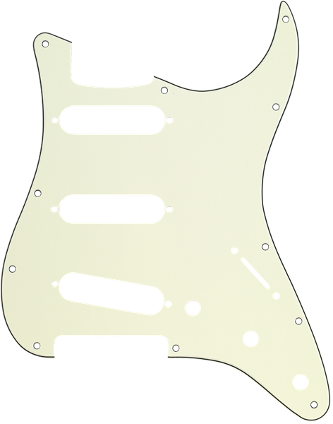 Pickguard Stratocaster S/S/S 11-Hole Mount Mint Green MG/B/MG 3-Ply