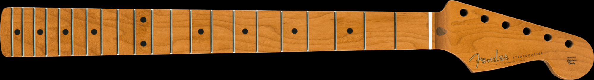 Fender ROASTED MAPLE VINTERA MOD 50'S STRATOCASTER® NECK, 21 MEDIUM JUMBO FRETS, 9.5, V SHAPE